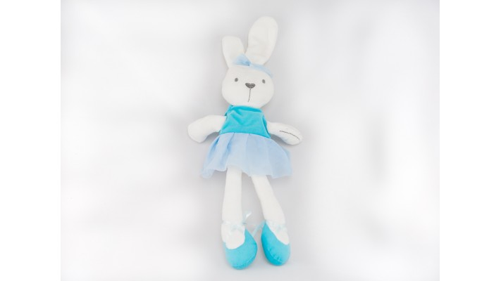 Blue Plush Ballerina Rabbit