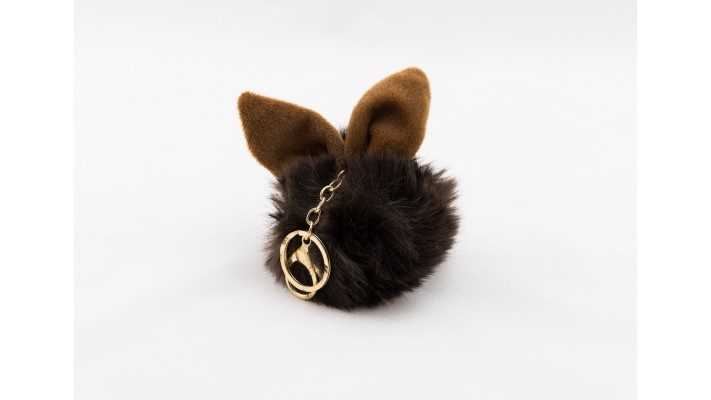 Brown Faux Fur Rabbit Key Chain