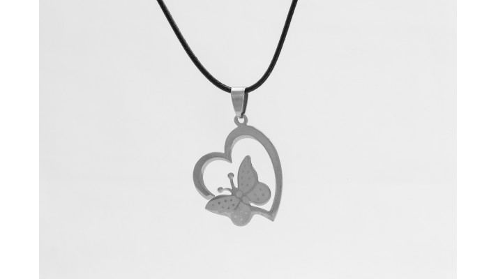 Butterfly Hearth pendant Necklace