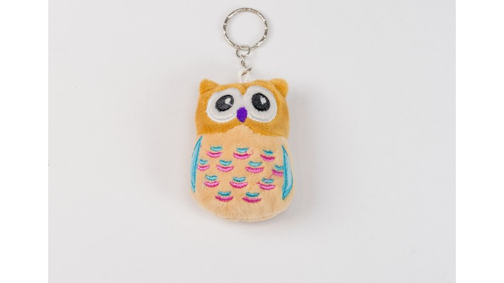 Mini Brown Owl keychain