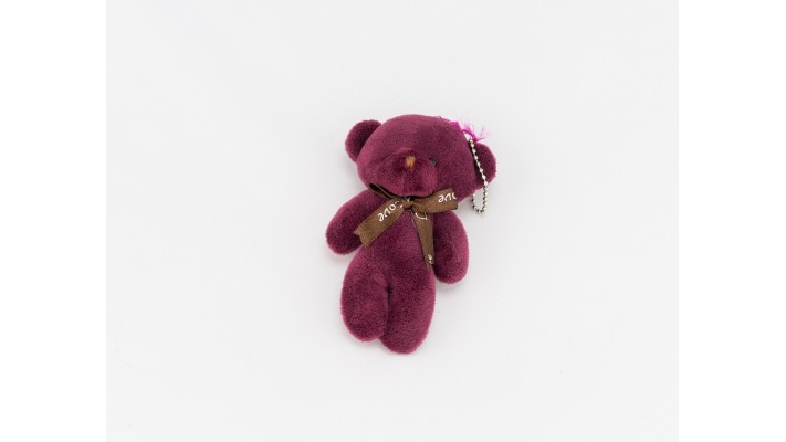 Mini Purple Teddy bear Keychain