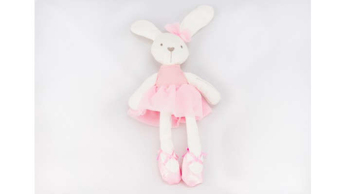 Pink Plush Ballerina Rabbit