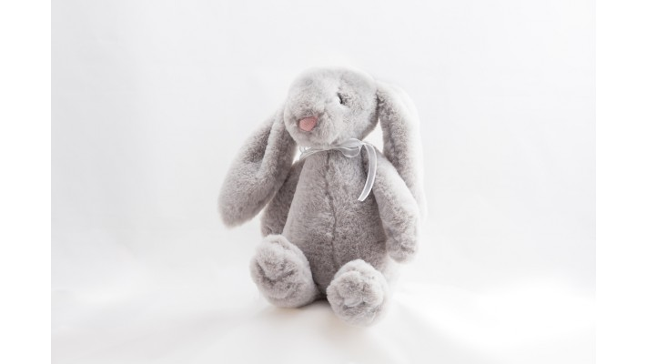 Plush Grey Rabbit