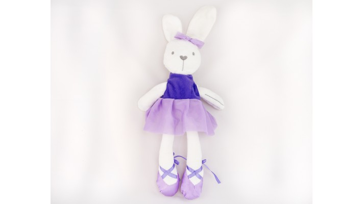 Purple Plush Ballerina Rabbit