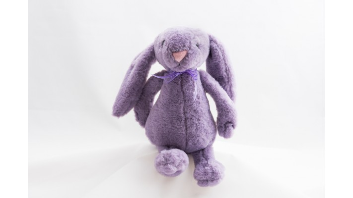 Purple Plush Rabbit