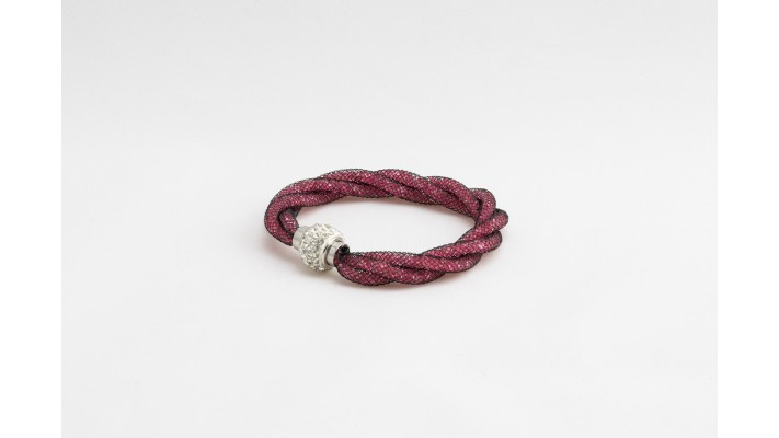 Red Sparkle Twist bracelet